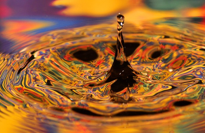 Water Drops with Colors